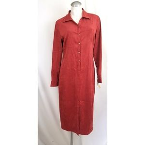 Talbots Size 12P Suedecloth Long Dress Coral